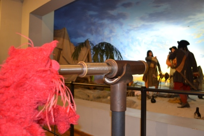 Walking through the pirate museum is a lot of fun, they make you feel like you're a real pirate!