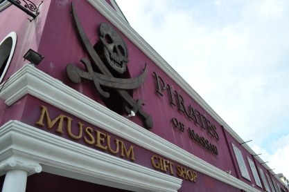 The Pirates of Nassau! It's a great place to learn all about pirates. It also doesn't hurt that it's a lot of fun to go through.