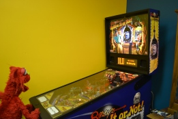 Taking a break from the museum is always great...I'm a pinball wizard!